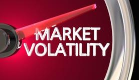 Peligro del riesgo de la medida del velocímetro del indicador de la volatilidad de mercado libre illustration