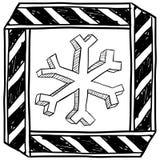 Peligro del vector amonestador de congelación Imagenes de archivo