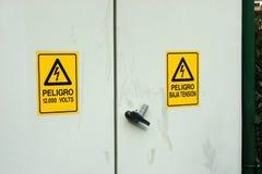 Peligro eléctrico Fotos de archivo