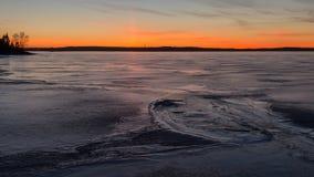 Peligro en puesta del sol Imagenes de archivo