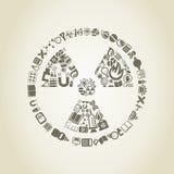 Peligro químico una ciencia Foto de archivo