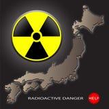 Peligro radiactivo Fotos de archivo