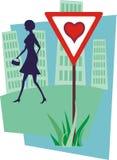 Peligros 2 de las tarjetas del día de San Valentín Imágenes de archivo libres de regalías