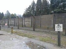 Peligros de Auschwitz Fotografía de archivo