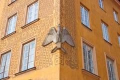 Pelikaanhuis in de Oude stad van Warshau, Polen Royalty-vrije Stock Foto's