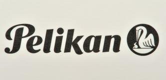 pelikan品牌的徽标 库存图片