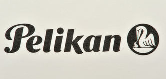 Pelikan brand and logo Stock Images