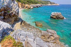 pelio mylopotamos της Ελλάδας παραλιών thessaly Στοκ Φωτογραφίες