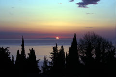 pelion wschód słońca. Fotografia Royalty Free