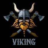 Pelirrojo Viking Guerrero escandinavo Militar con los pulgares para arriba ilustración del vector