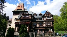 Pelisor castle, Peles domain, Sinaia, Romania Stock Image