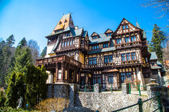 Pelisor castle in Romania Stock Photos