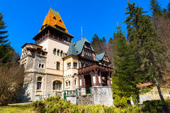 Pelisor castle in Romania Royalty Free Stock Image