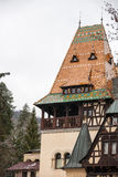 Pelisor Castle from Sinaia, Romania Royalty Free Stock Images