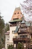 Pelisor Castle from Sinaia, Romania Stock Image