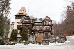 Pelisor Castle from Sinaia, Romania Stock Photos