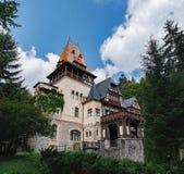Pelisor kasztel w Rumunia Obrazy Stock