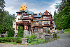 Pelisor museum  in Sinaia, Romania. Stock Photos