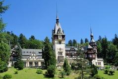 Pelisor slottinSinaia, Rumänien Royaltyfri Bild
