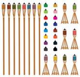 Pelita color type set Stock Photography