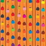 Pelita hang stick many seamless pattern Stock Photography