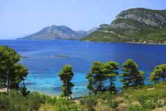 Peljesac στην Κροατία στοκ εικόνα με δικαίωμα ελεύθερης χρήσης