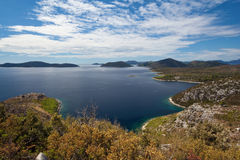 Peljesac peninsula landscape Royalty Free Stock Photo