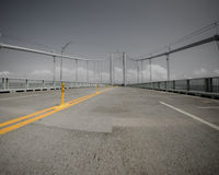 Pell Bridge, Newport, RI. Royalty Free Stock Photos