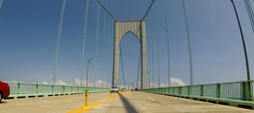 Pell Bridge, Newport, RI. Stock Photography