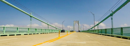 Pell Bridge, Newport, RI. Royalty Free Stock Images