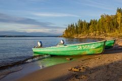 Pella Boats Lake Ladoga Royalty Free Stock Photo