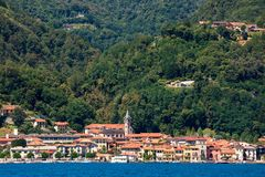 Pella - small town on Lake Orta in Italy. View of Pella - small town on famous Lake Orta in Piedmont, Northern Italy Stock Photography