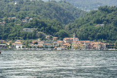 Pella village at Orta lake, Italy Stock Photos