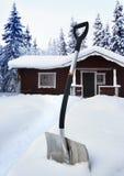 Pelle à neige Photographie stock