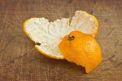 Pelle dei mandarini Immagini Stock Libere da Diritti