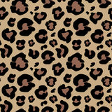 Pelle del leopardo disegnata a mano disegno animale della stampa Reticolo senza giunte Illustrazione di vettore Fotografia Stock
