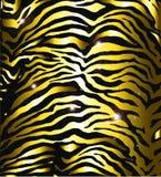 Pelle della zebra dell'oro Fotografia Stock Libera da Diritti