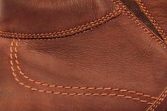 Pelle scamosciata di cuoio del Brown Fotografia Stock Libera da Diritti