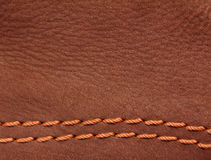 Pelle scamosciata di cuoio del Brown Immagine Stock Libera da Diritti