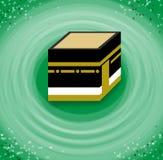 Pellegrinaggio alla Mecca Circumambulation del Kaaba illustrazione di stock