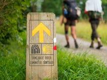Pellegrinaggio a Camino de Santiago Fotografia Stock Libera da Diritti