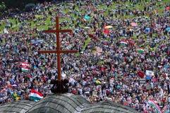 Pellegrinaggio cattolico Fotografie Stock Libere da Diritti