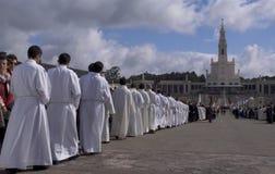 Pellegrinaggio internazionale a Fatima il 13 maggio Fotografie Stock Libere da Diritti