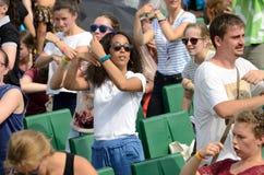 Pellegrini di dancing, giorno 2016 della gioventù del mondo Immagine Stock