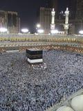 Pellegrini musulmani all'entrata della moschea di Haram di Al Fotografia Stock
