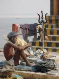 Pellegrino a città santa di Varanasi in India Fotografia Stock Libera da Diritti