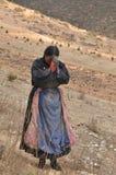 Pellegrino tibetano Immagini Stock
