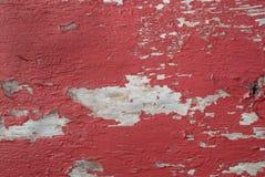Pellende rode verf Stock Afbeelding