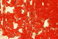 Pellende Rode Verf Stock Foto