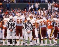 Pellerosse e tiro della moneta di Broncos Superbowl Fotografie Stock Libere da Diritti